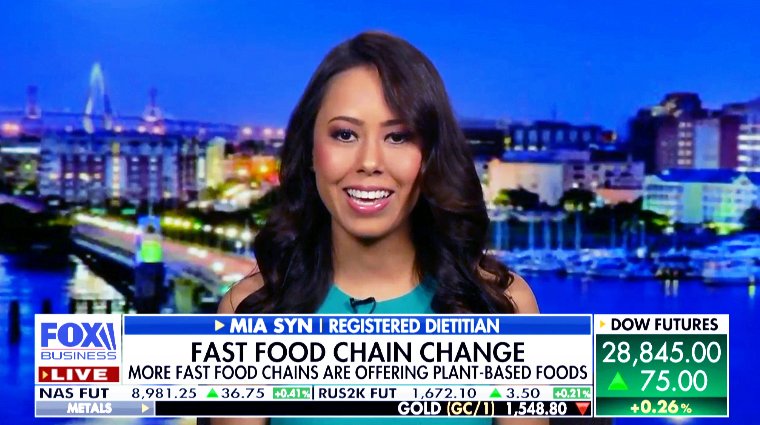 Registered Dietitian Mia Syn Fox News Business