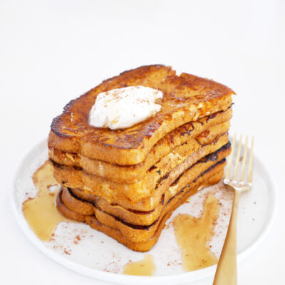 Vegan Pumpkin French Toast