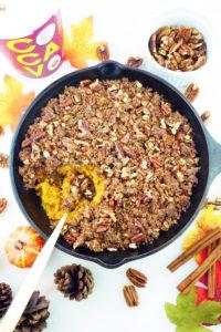 Crunchy Pecan Oat Sweet Potato Casserole