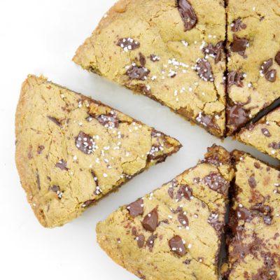 Dark Chocolate Sea Salt Cookie Skillet