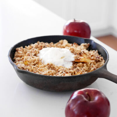 5-Ingredient Apple Cinnamon Crisp