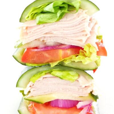 """Pickle """"Bread"""" Sandwich"""