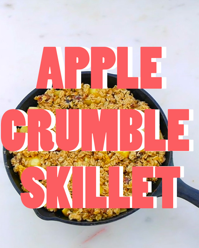 Apple Crumble Skillet