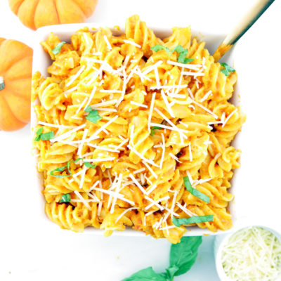 Creamy Pumpkin Marinara Pasta