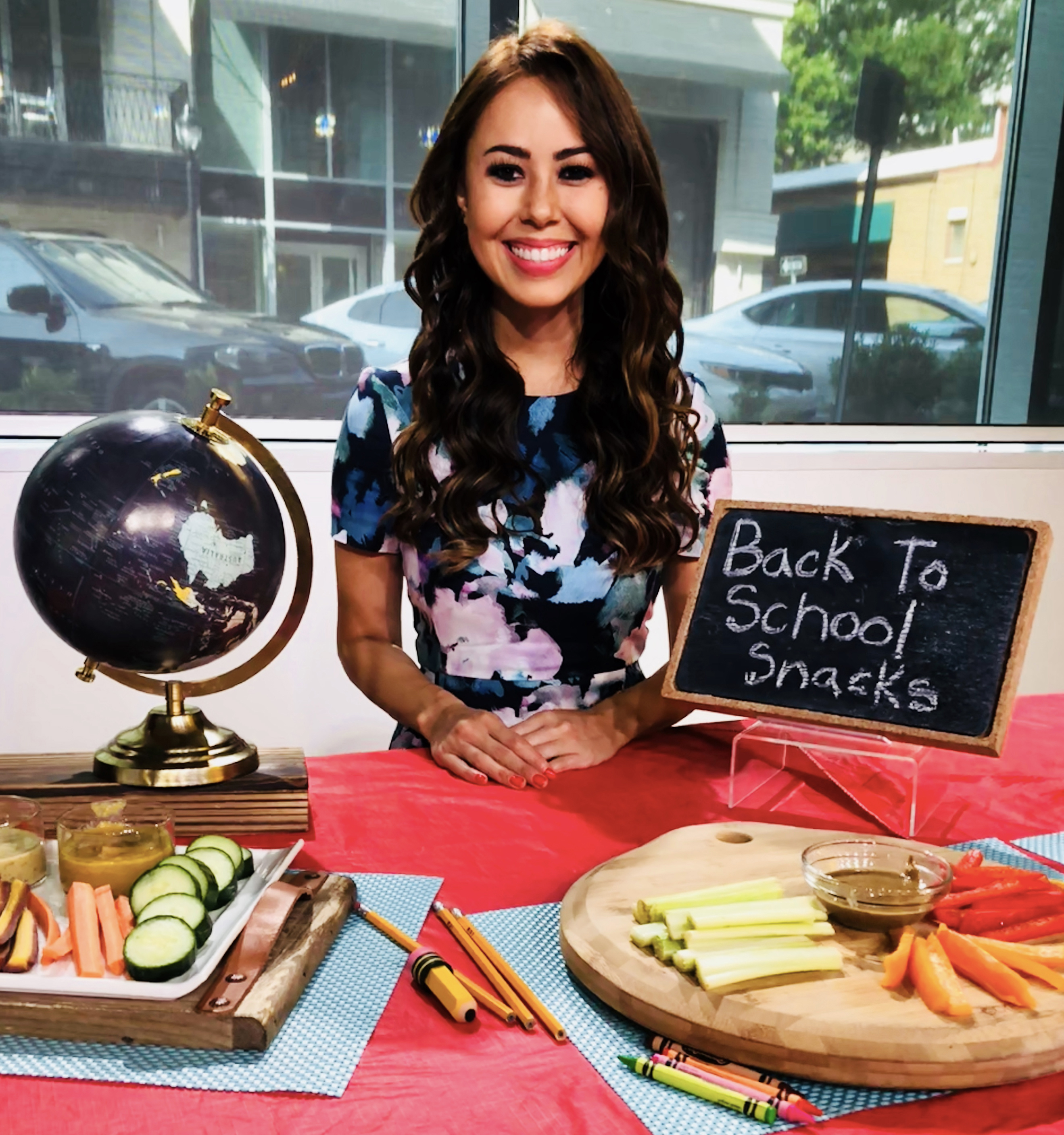 Registered Dietitian Mia Syn TV SunButter, O'Dang Hummus Dressings, Borden Cheese, Tio Gazpacho and Northwest Cherry Growers