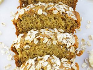Mini Honey Oat Banana Bread