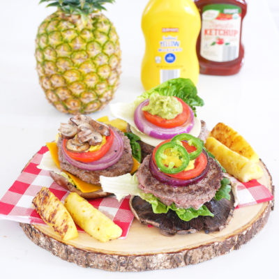 Portobello Bun Burger Bar with ALDI