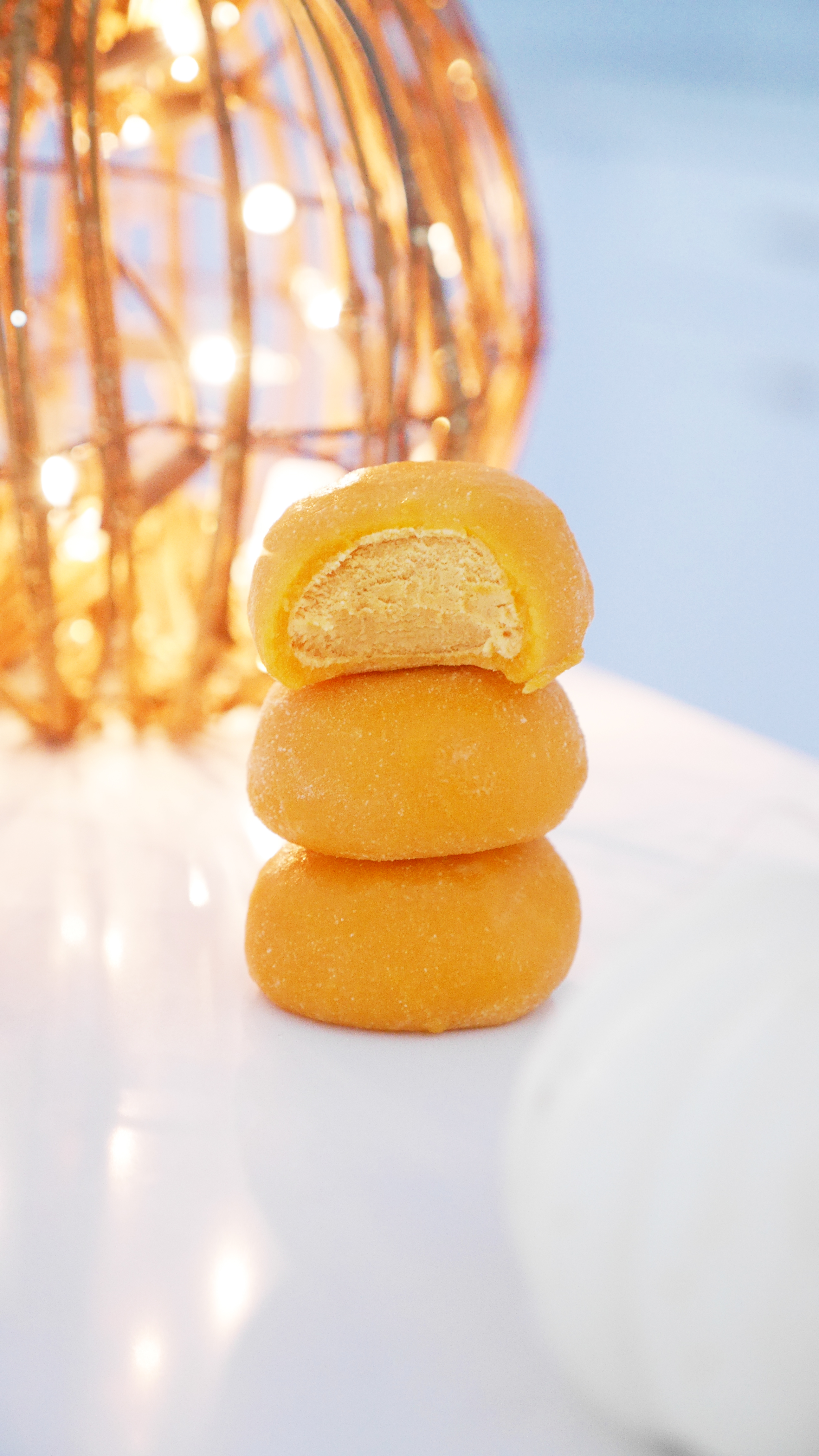Bubbies pumpkin mochi ice cream