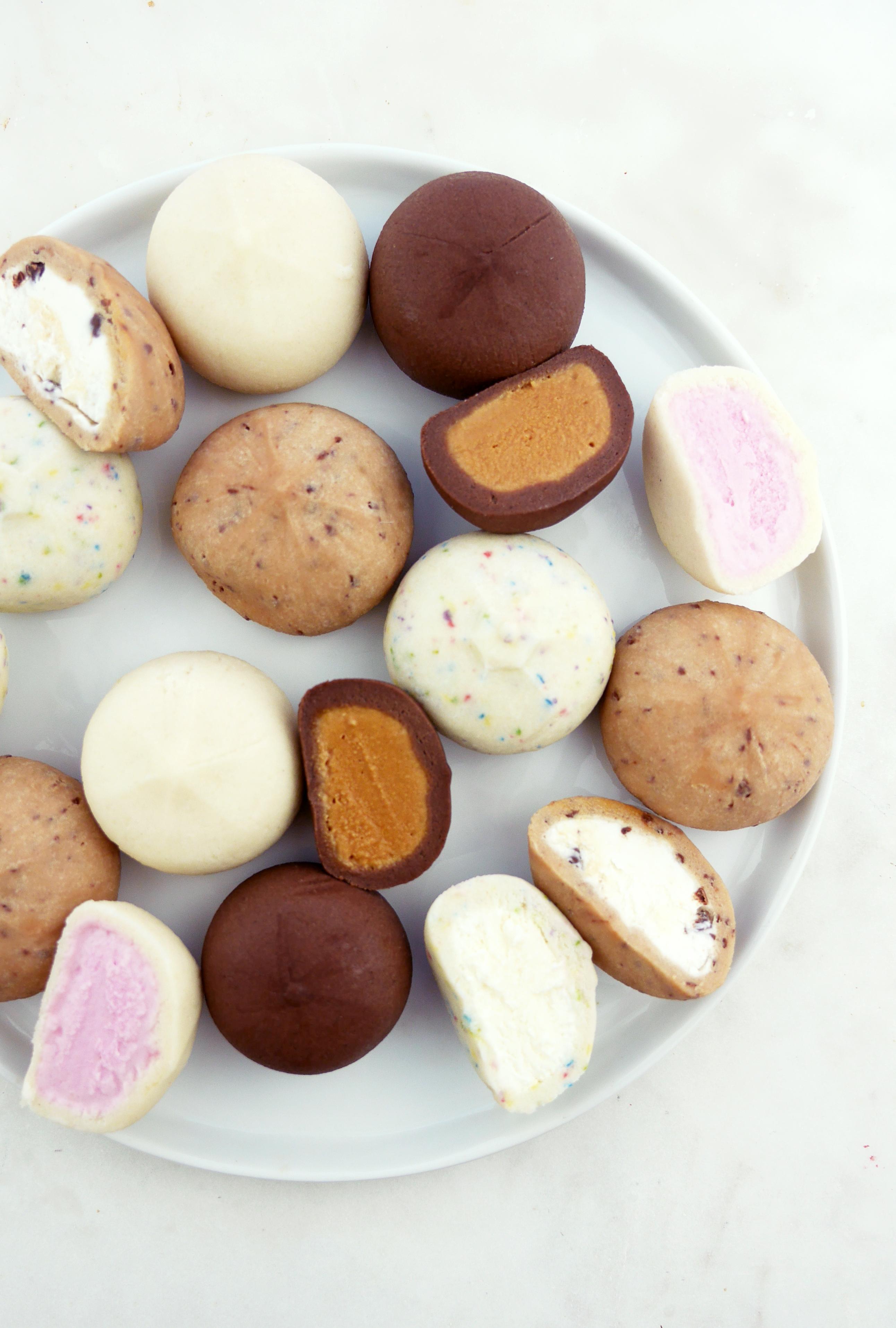 Bubbies Cookie Dough Ice Cream Bites