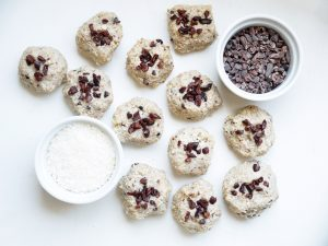 Cacao Coconut Cookie Bites