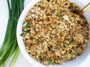 Peanut Cauliflower Rice