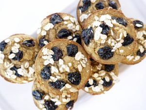 Cherry Oat Muffins