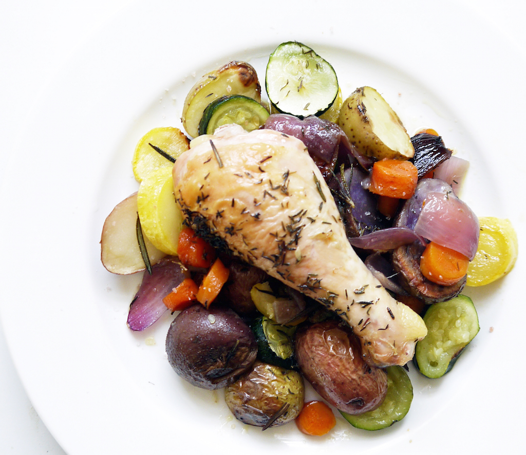 Rosemary Chicken and Summer Vegetables