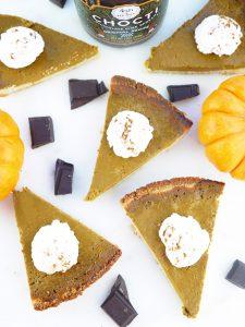 Chocolate Pumpkin Pie with Coconut Crust