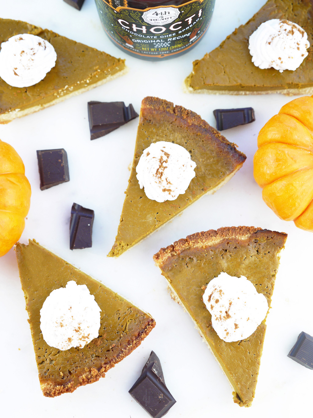 Fourth and Heart Ghee Chocolate Pumpkin Pie