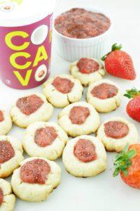 Healthy Holiday Thumbprint Cookies