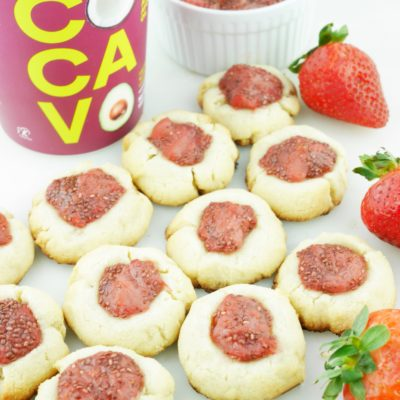 Healthy Holiday Thumbprint Cookies