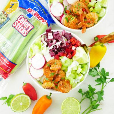 Cajun Mardi Gras Salad Bowls