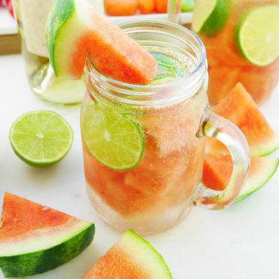 Watermelon White Wine Spritzers