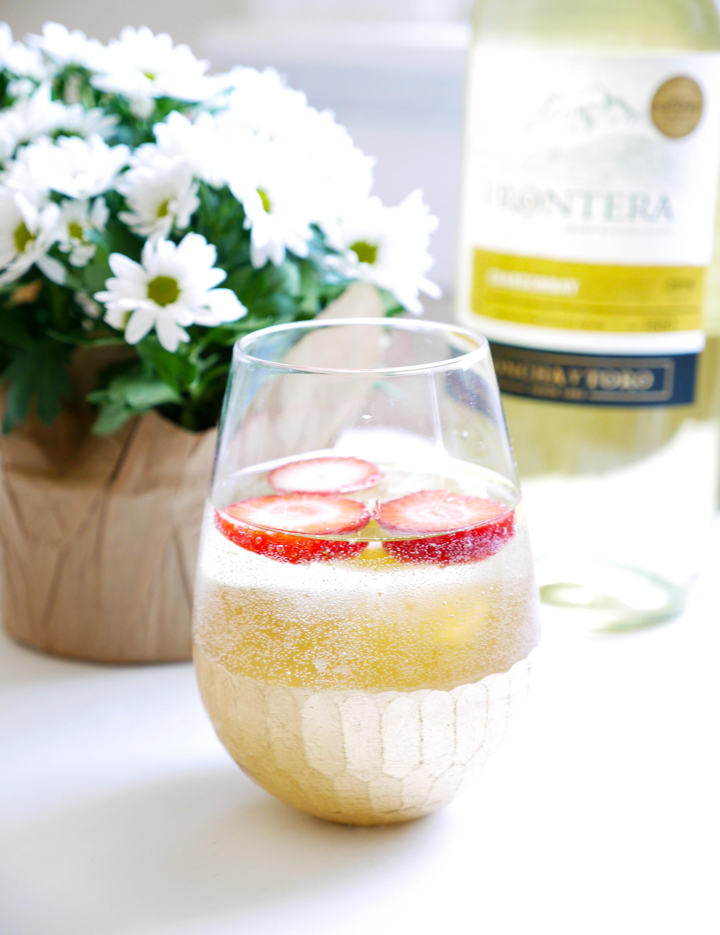 Spring Sangria - Strawberry, Kiwi, Citrus, Frontera Chardonnay ...