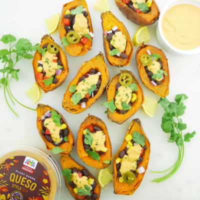 Loaded Vegan Sweet Potato Skins