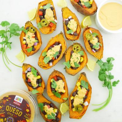 Loaded Vegan Sweet Potato Skins