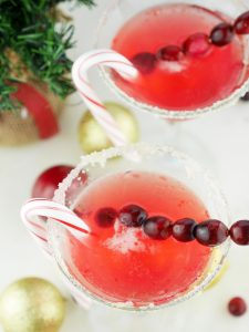 Cranberry Candy Cane Martinis