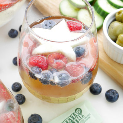 Red, White and Blue Wine Spritzers