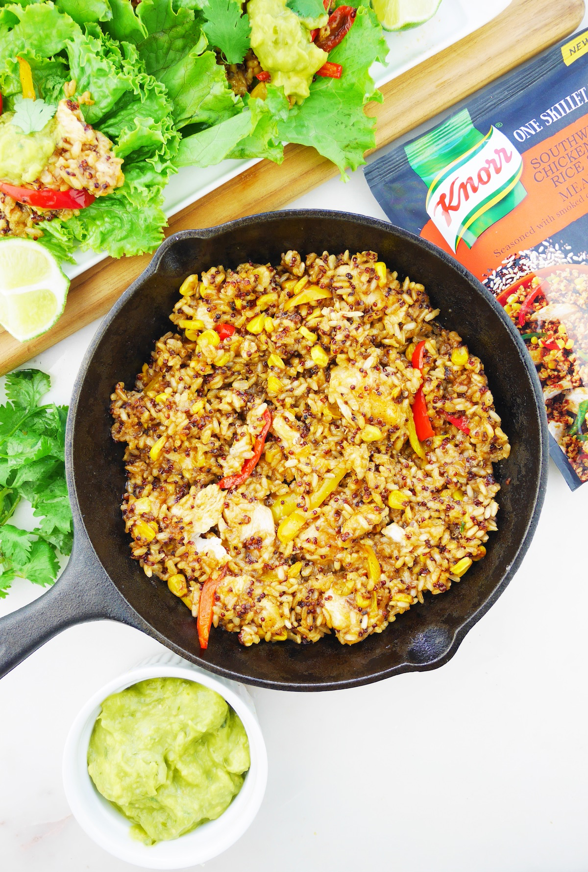 Knorr One Skillet Meal Southwestern Chicken Brown Rice Quinoa meal starter