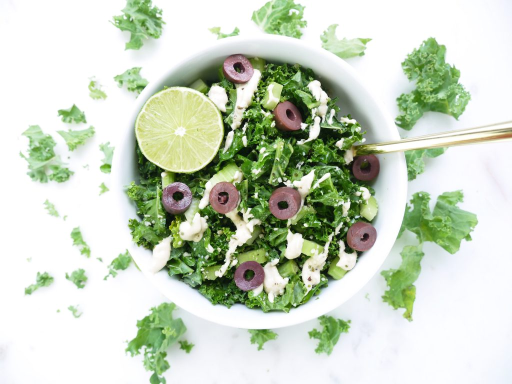 LIME TAHINI KALE SALAD NUTRITION BY MIA