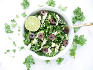 Lime Tahini Kale Salad