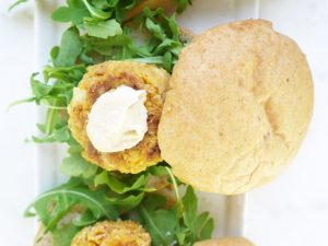 Chickpea Millet Chia Burgers