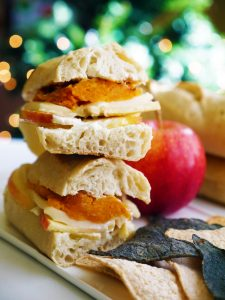 Sweet Potato and Cheese Baguette Sandwich