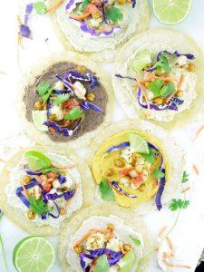 Vegan Hummus Tacos