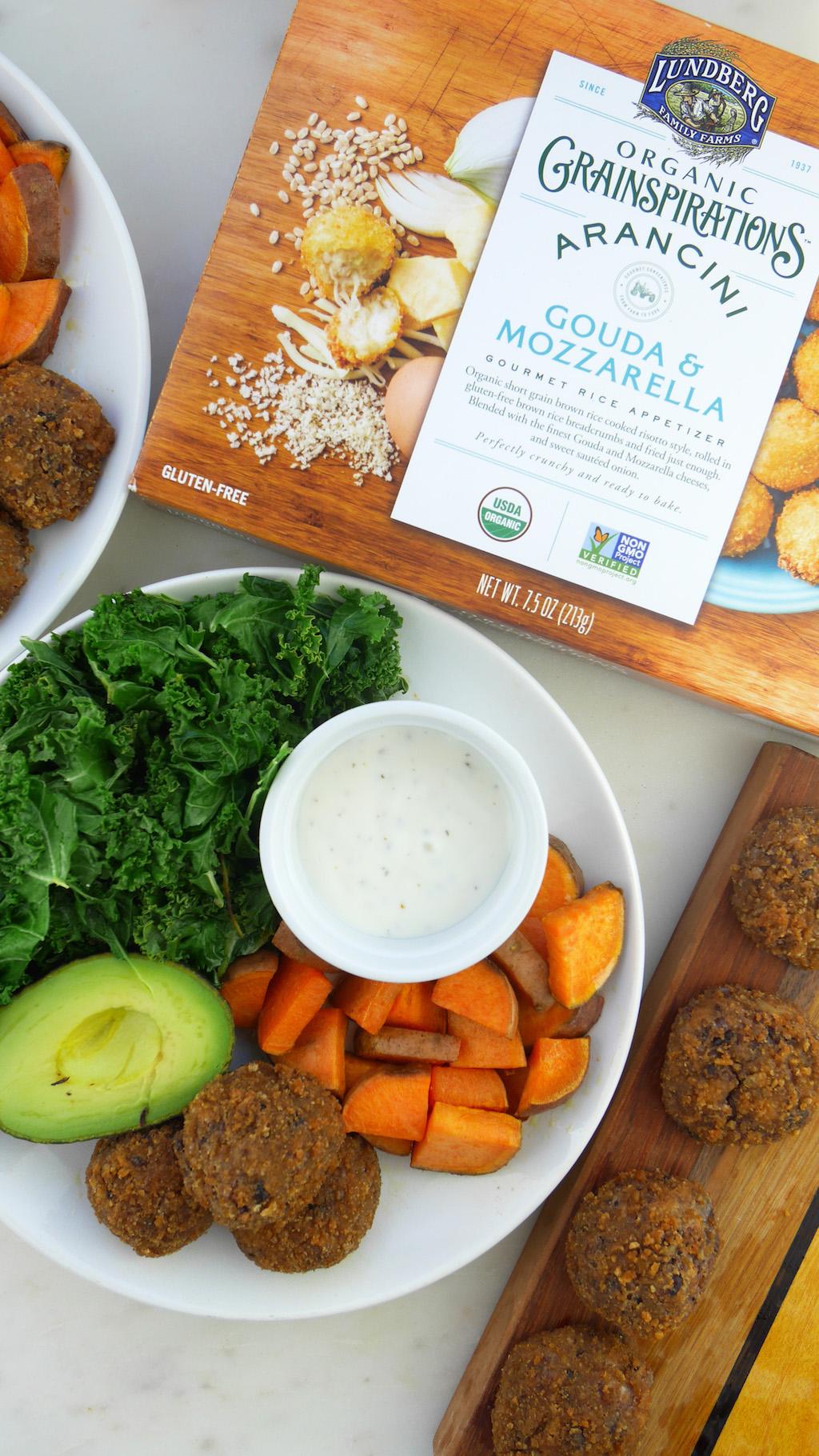 Lundberg Family Farms Arancini Lunch Plate