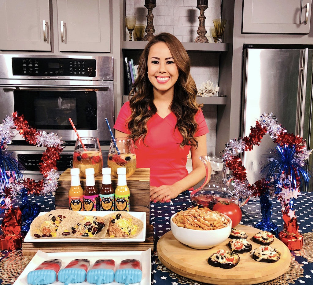 Memorial Day Menu Swaps ABC WCIV Lowcountry Live Mia Syn Stevia In The Raw, Siete Grain-free Tortilla Chips and Tortillas, Amy and Brian Coconut Water and The Jersey Tomato Co. Sauces