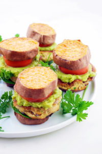 Certified Sustainable Sweet Potato Salmon Burgers