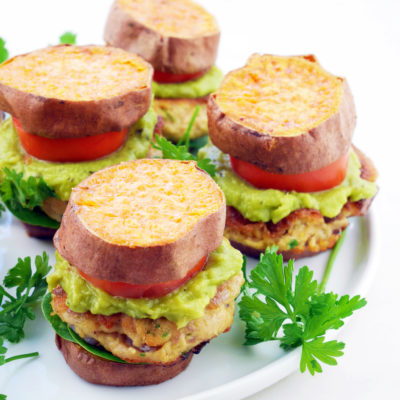 Certified Sustainable Sweet Potato Salmon Burgers