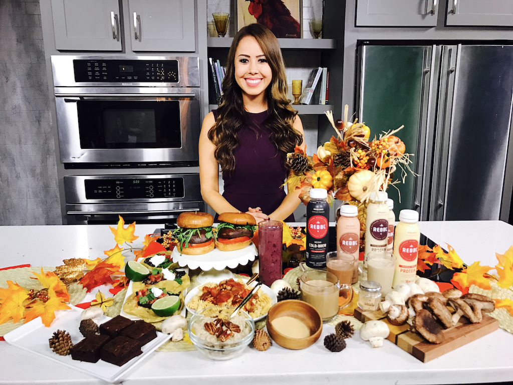 ABC Lowcountry Live National Mushroom Day REBBL Mia Syn Registered Dietitian Nutritionist TV