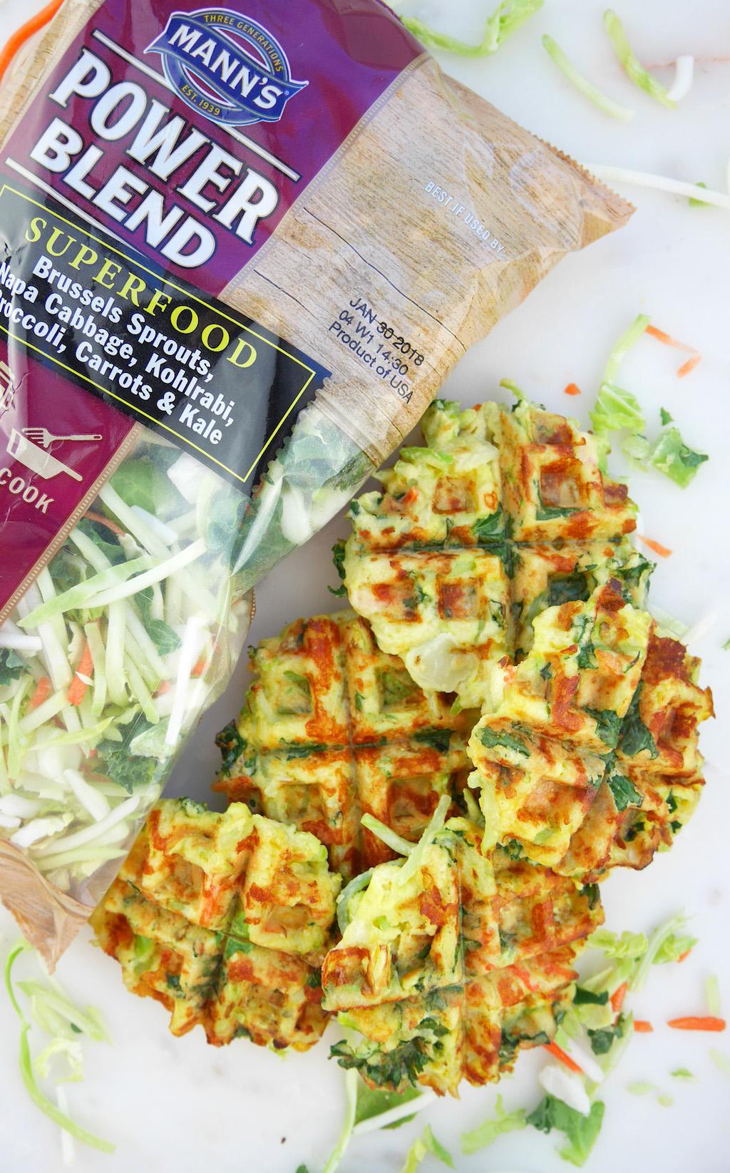 Veggie Blend Breakfast Waffles Mann's Power Blend