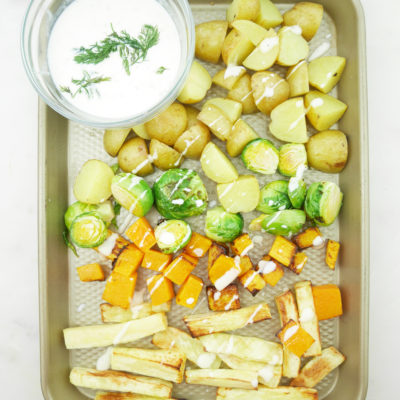Winter Vegetables With Creamy Goat Milk Dressing
