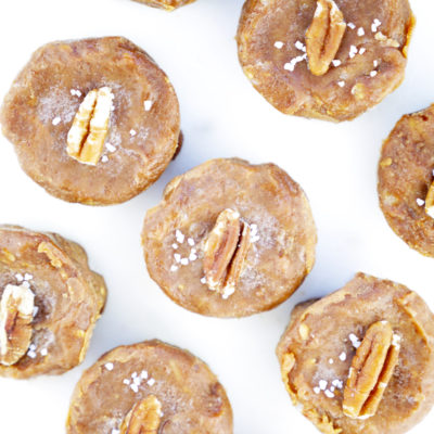 Pumpkin Pecan Sea Salt Fudge Bites