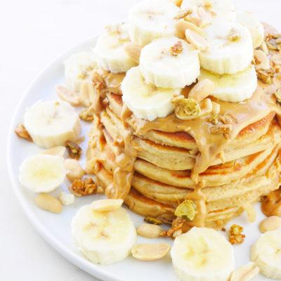Peanut Butter Probiotic Pancakes