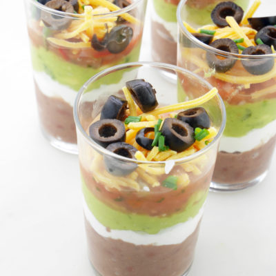 Mini 7-Layer Bean Dips