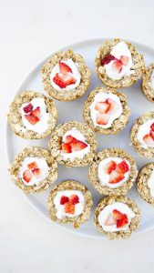 Strawberry Oatmeal Nests
