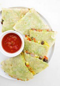 Veggie Avocado Quesadillas
