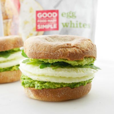 Avocado Egg White Breakfast Sandwich