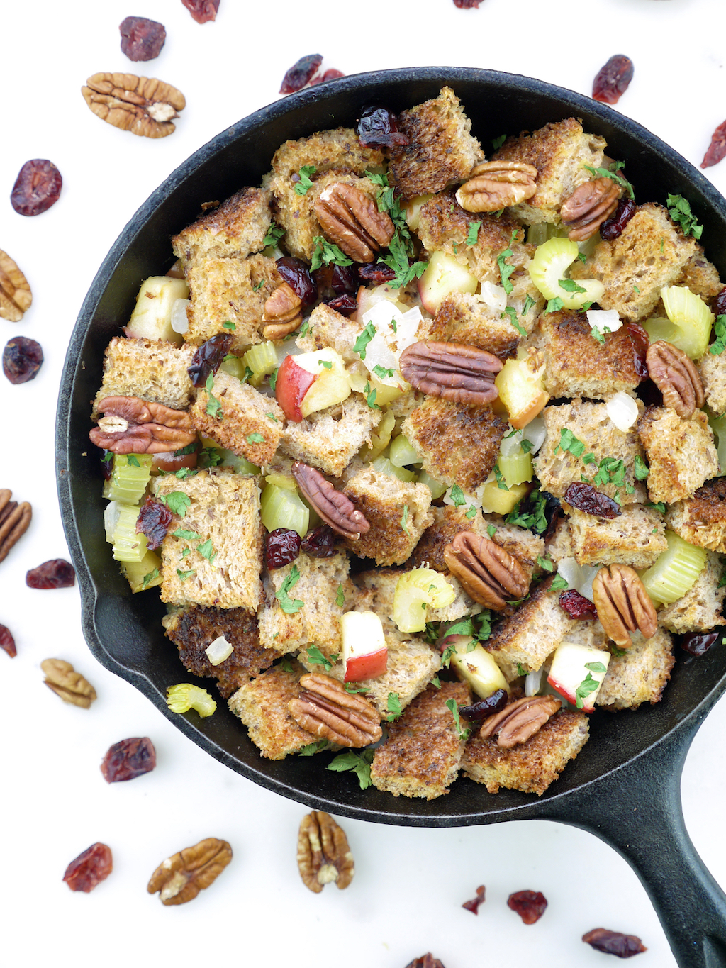Pacific Foods Bone Broth Stuffing Skillet