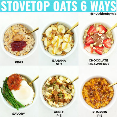 Stovetop Oats 6 Ways