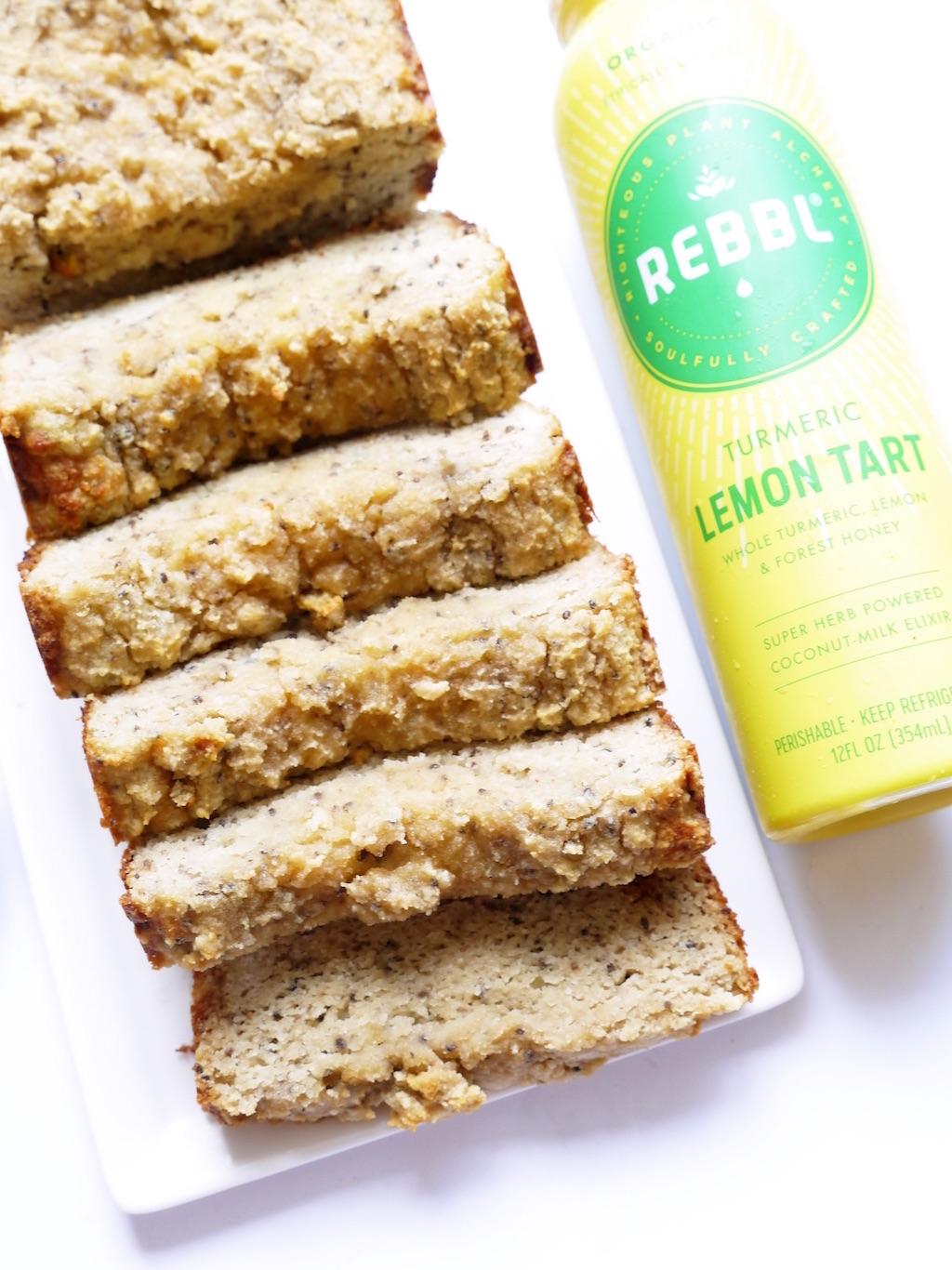 Lemon Turmeric Chia Loaf
